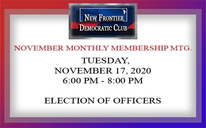 November 2020 General Meeting