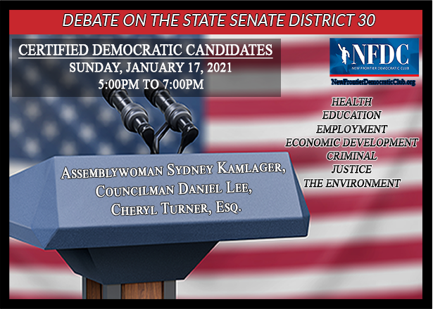 DEBATE ON STATE SENATE SEAT 30